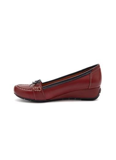 Kısa Dolgu Topuklu Deri Ayakkabı-Beta
